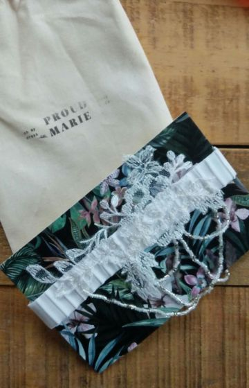 garter - custom made wedding accessory gift